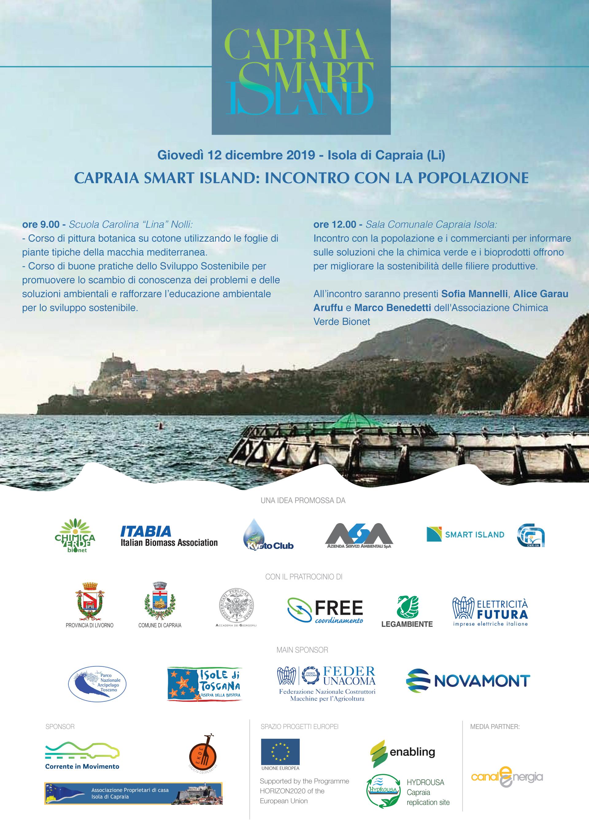 CAPRAIA SMART ISLAND: INCONTRO CON LA POPOLAZIONE @ Isola di Capraia